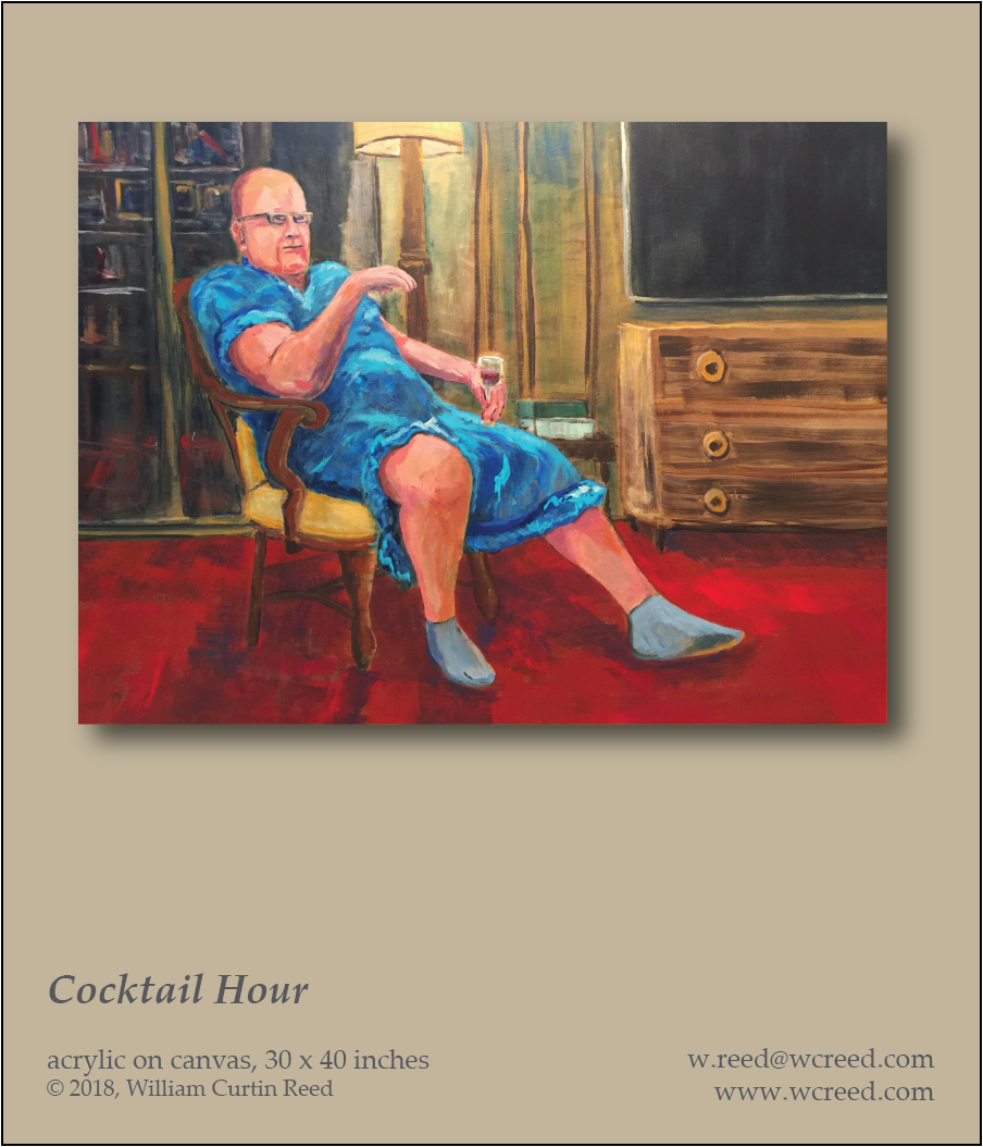 Cocktail Hour, an original Painting by William Reed, Acrylic on Canvas, 30 x 40