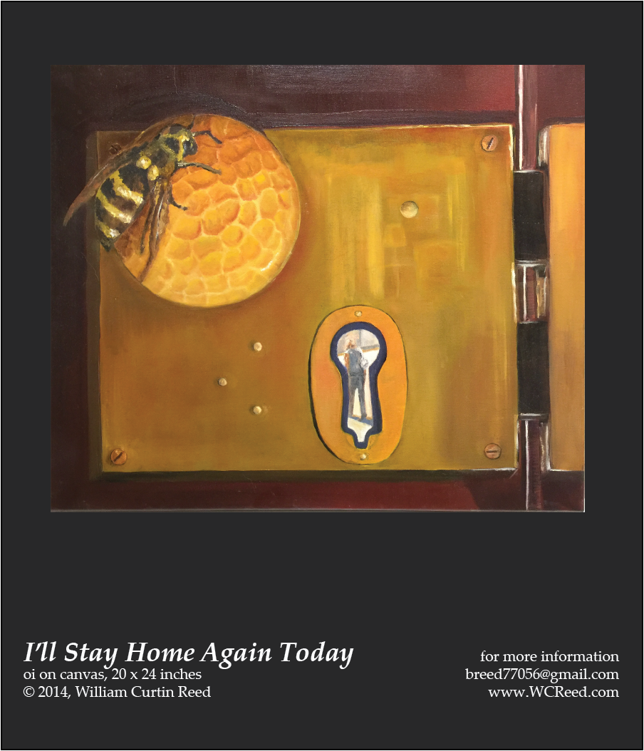 I'll Stay Home Again Today, an original Painting by William Reed, Oil on Canvas, 20 x 24