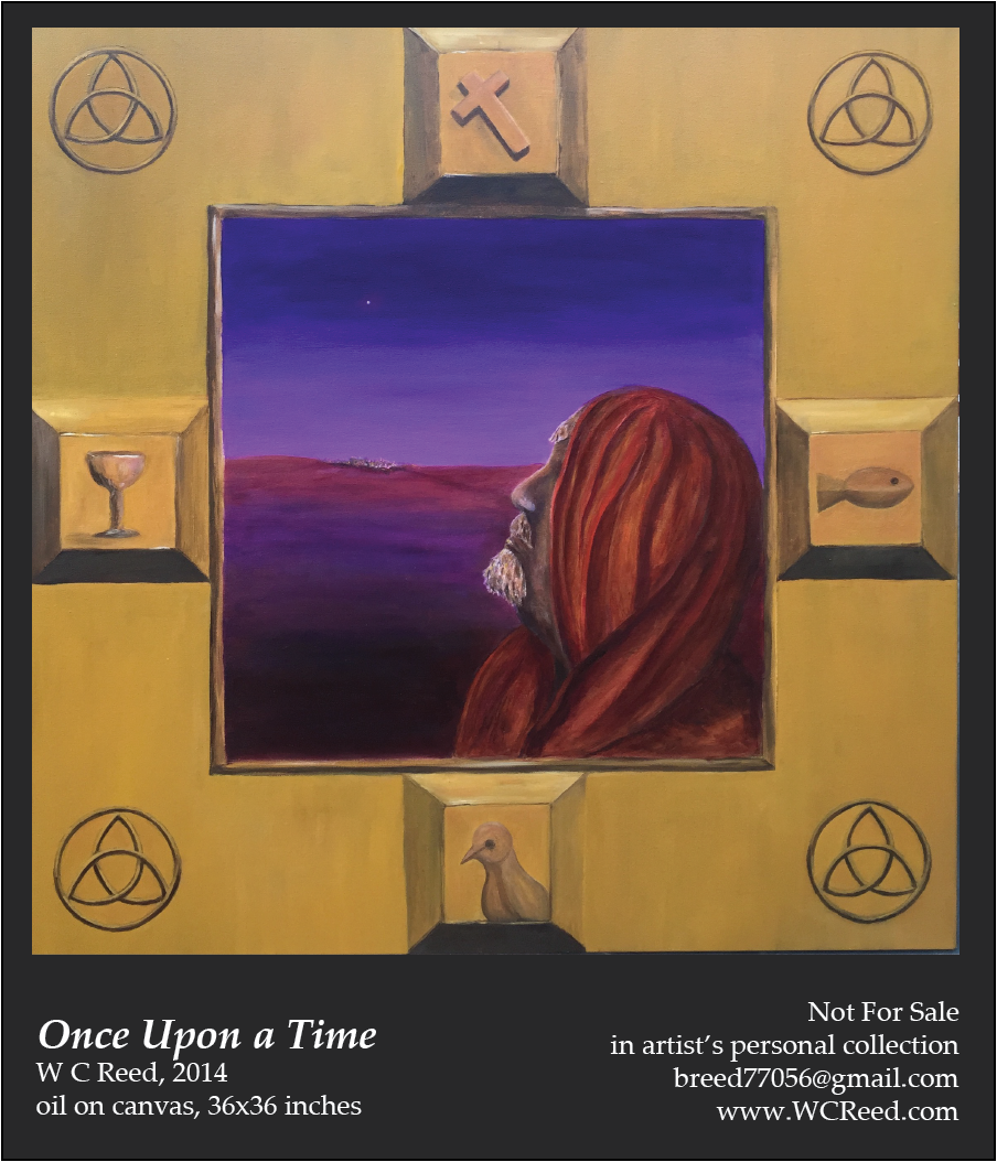 Once Upon a Time, an original Painting by William Reed, Oil on Canvas, 36 x 36