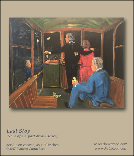 Last Stop, an original Painting by William Reed, Acrylic on Canvas, 48 x 60