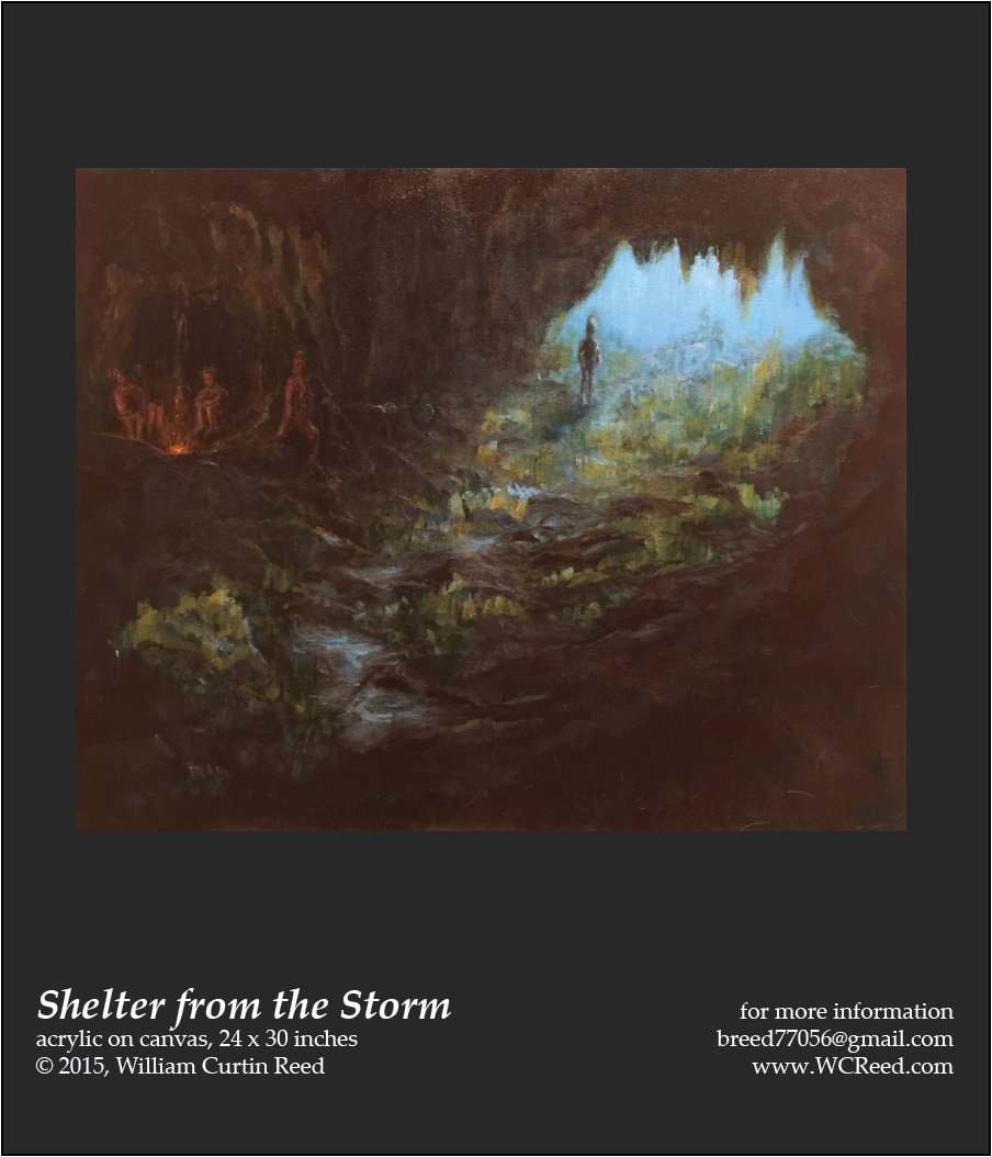 Shelter from the Storm, an original Painting by William Reed, Acrylic on Canvas, 24 x 30