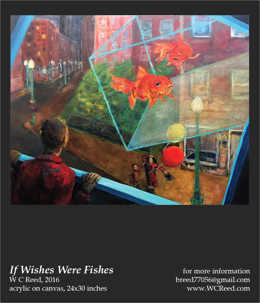 If Wishes Were FIshes, an original Painting by William Reed, Acrylic on Canvas, 24 x 30