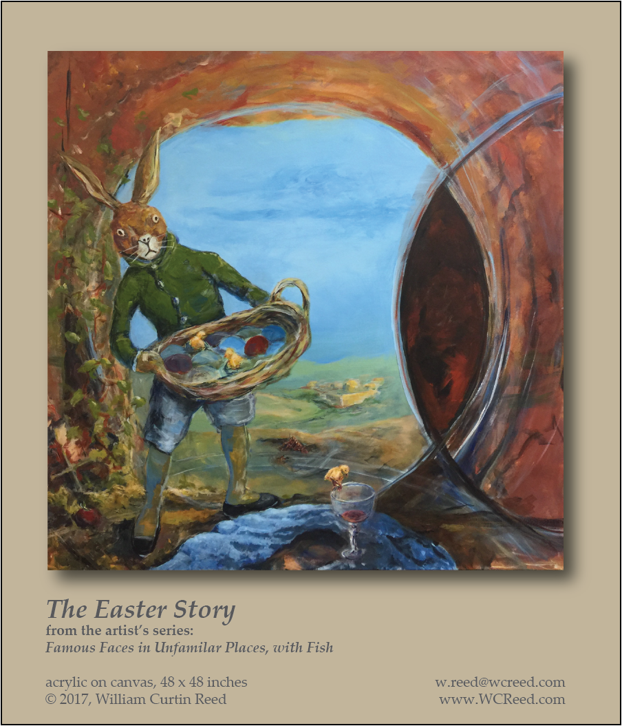 The Easter Story, an original Painting by William Reed, Acrylic on Canvas, 48 x 48
