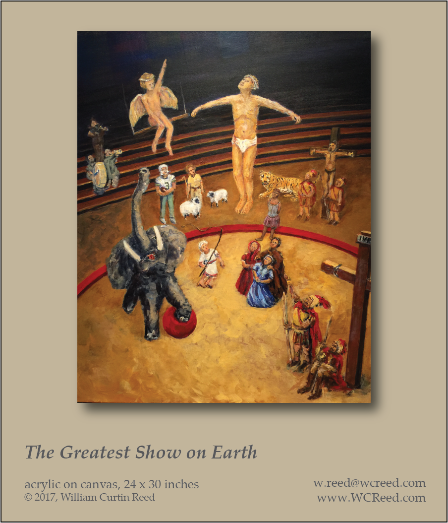 The Greatest Show on Earth, an original Painting by William Reed, Acrylic on Canvas, 24 x 30
