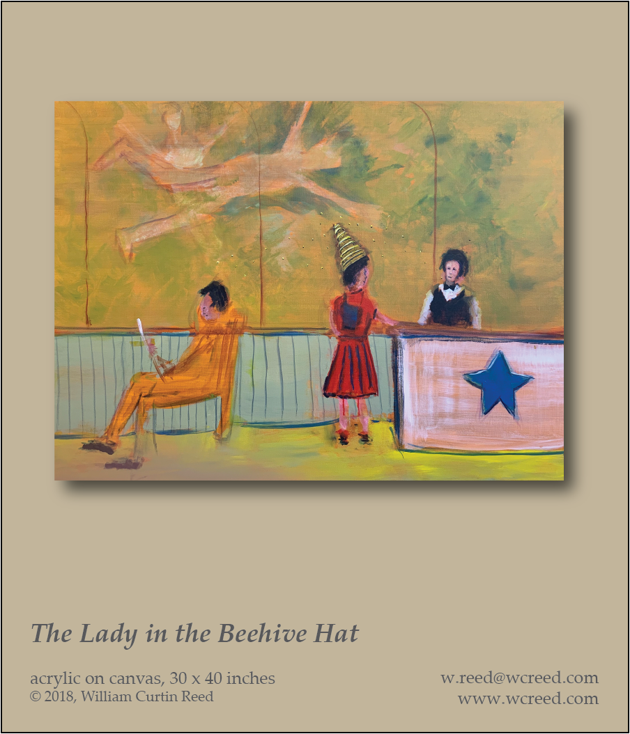 The Lady in the Beehive Hat, an original Painting by William Reed, Acrylic on Canvas, 30 x 40