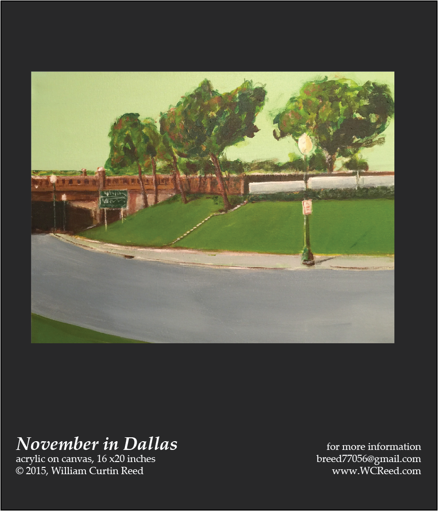 November in Dallas, an original Painting by William Reed, Acrylic on Canvas, 16 x 20