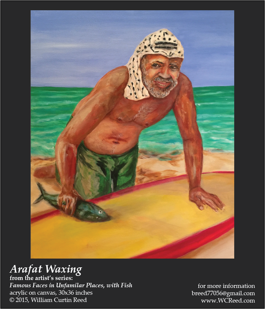 Arafat Waxing, an original Painting by William Reed, Acrylic on Canvas, 30 x 36